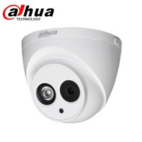 Dahua professionele dome-camera IPC-HDW4433C-A, 4 MP, IP, POE, IP67 waterdicht en IK10, vaste lens van 2,8 mm, met infraroodverlichting en microfoon audio nachtzicht opnemen + geluid
