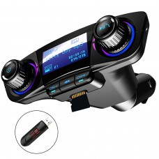 Bluetooth FM Transmitter Auto MP3-Player Handsfree Wireless Radio Audio Adapter met Dual USB USB Disk/SD Kaart AUX-ingang uitgang