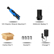 PROSTORMER Professional Accu Ratelsleutel - complete set met 1x 12V 2AH accu en lader + accessoires